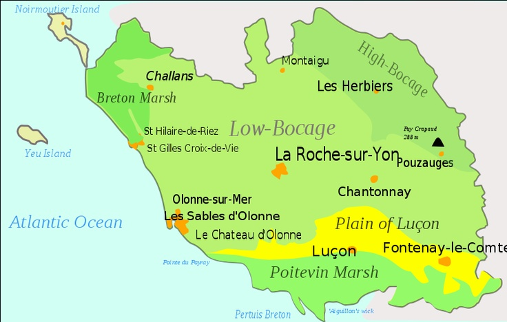 Ancestors are from this area, Vendee, France - previously know as Meuilleron-en-Pareds in Poitou