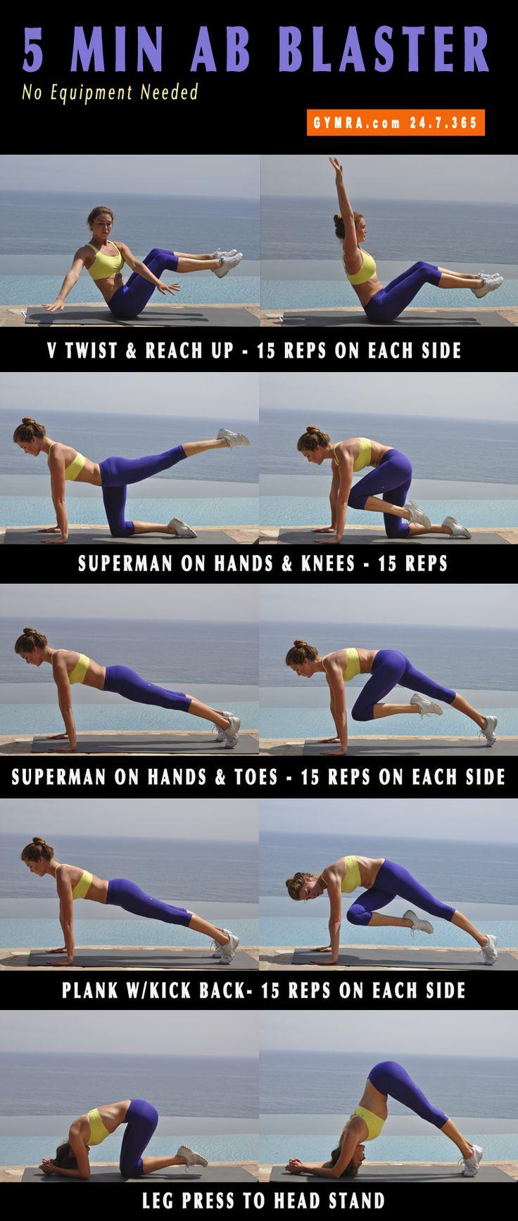 Ab Workout. Tighten your #abs, increase your core strength, and slim down! #fitness #exercise #workout #weightloss #health #muscles