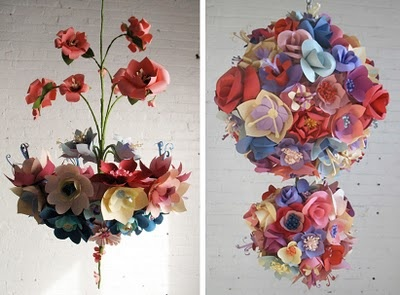 Paper flower chandelier recycled gold flower vase tutorial diy paper flower chandeliers from eloise corr danch mightylinksfo