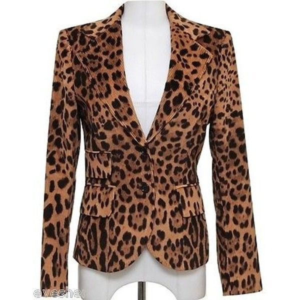 Pre-Owned Dolce & Gabbana Tan Brown Corduroy Jean Jacket Coat Leopard... ($325) ❤ liked on Polyvore featuring outerwear, jackets, multi, brown jacket, lightweight jacket, corduroy jacket, brown denim jacket and lined denim jacket