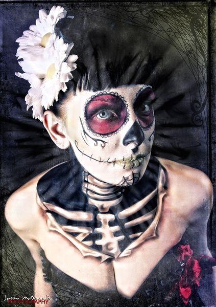 Sugar Skull #halloween #makeup | http://paint-body.blogspot.com
