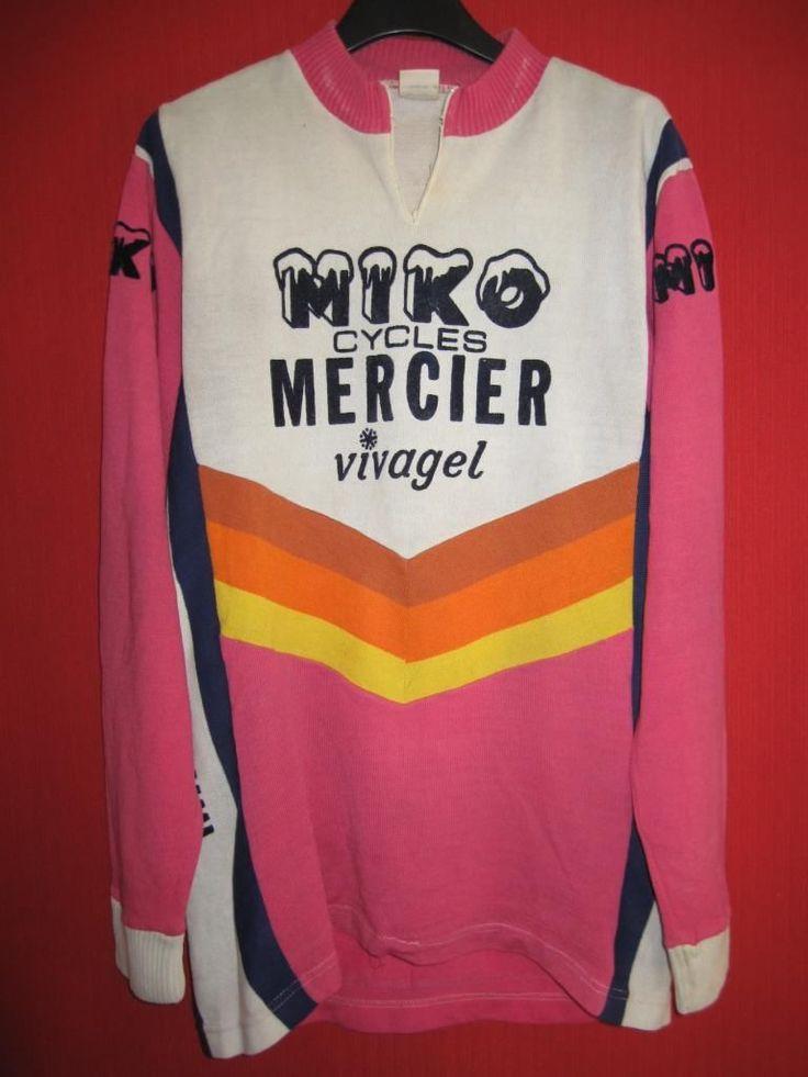 Maillot Cycliste Miko Mercier Vivagel Vintage 70'S Manche Longue 5 | eBay