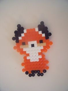 Little fox perler.jpg (236×314)
