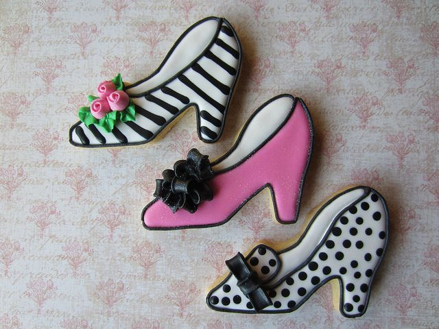 Shoe Cookies by Snowflakelady, via Flickr