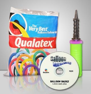 ORDER ONE TODAY!!! www.balloondistractions.com Balloon Basics Twister Kit As seen on TV!  Our BALLOON BASICS kit will take you from ZERO to BASIC balloon artist in under a week. Our kit contains a variety pack of super-stretchy Qualatex balloons, a convenient hand pump and an Easy-To-Follow Balloon Basics DVD!  Learn how to twist a Helicopter, 2 doves Kissing in a heart, a rip-roaring motorcycle and even a Carnivorous White Tiger!