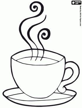 Hot Chocolate Mug Coloring Page | Breakfast coloring pages, coloring pages of Breakfast , printable ...