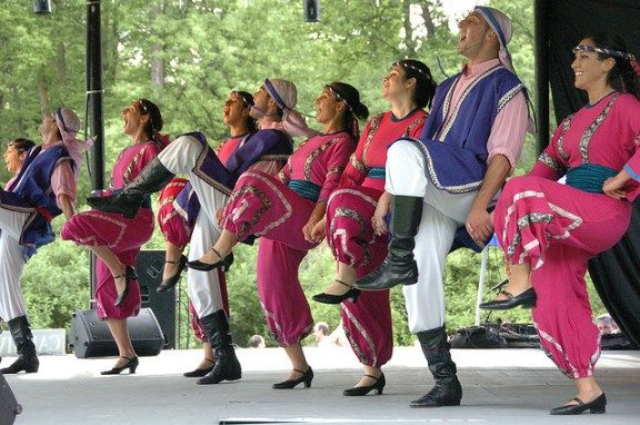 A wonderful Lebansese dancer group in traditional outfits ( Image: Heather Kashmera )