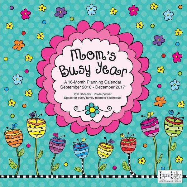 Moms Busy Year 2017 Wall Calendar (875 RUB) ❤ liked on Polyvore featuring home, home decor and office accessories