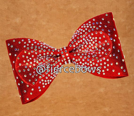 Candy Apple Tailless Rhinestone Bow