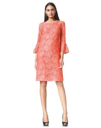 Bobbi - peach - Kanten tuniek jurk | LaDress