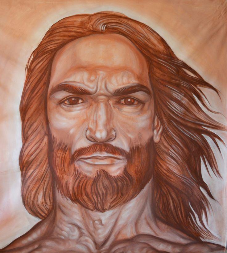 """pannello centrale """"la testa di Cristo"""""""