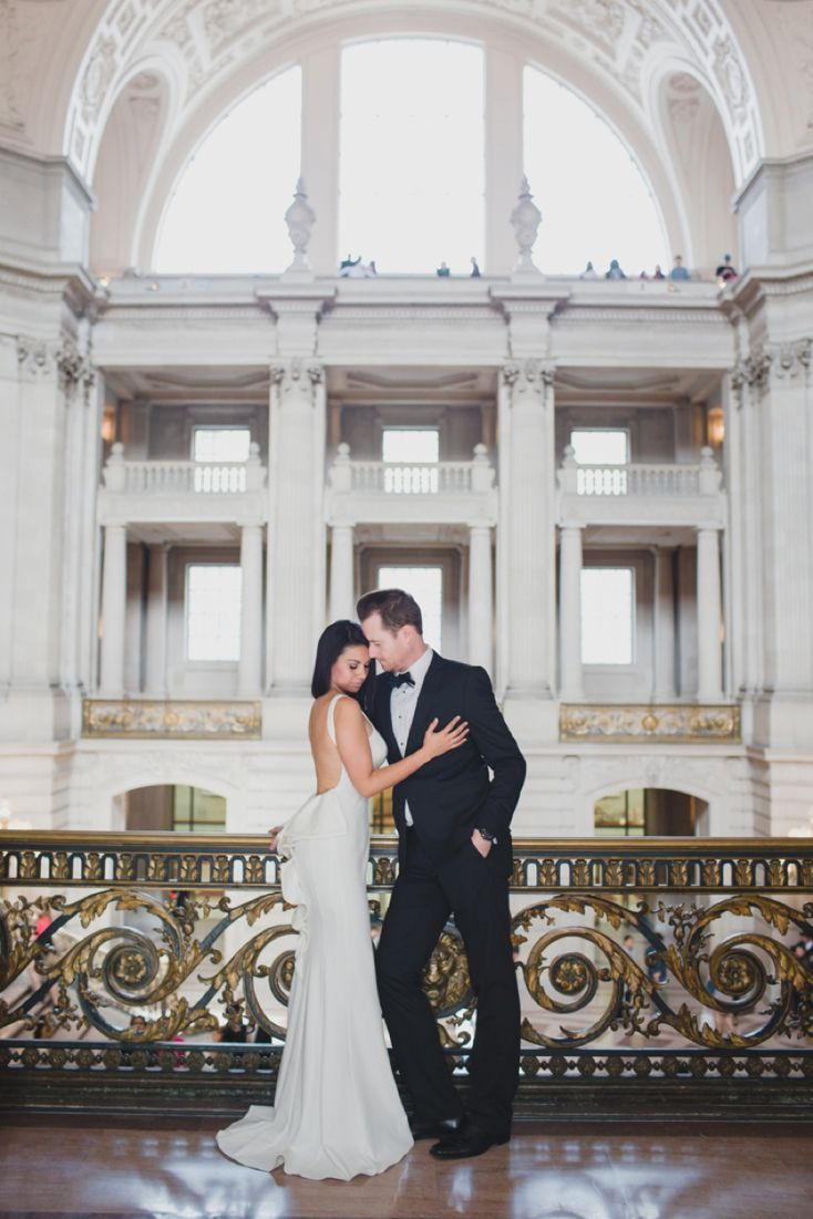 Intimate San Francisco City Hall Wedding By Lily Ro
