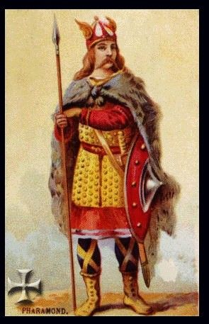 Pharamond Franks (370 to 427)  My 52nd Great grandfather.   [King of the Pharamond is my ancestor, too.. BKT]