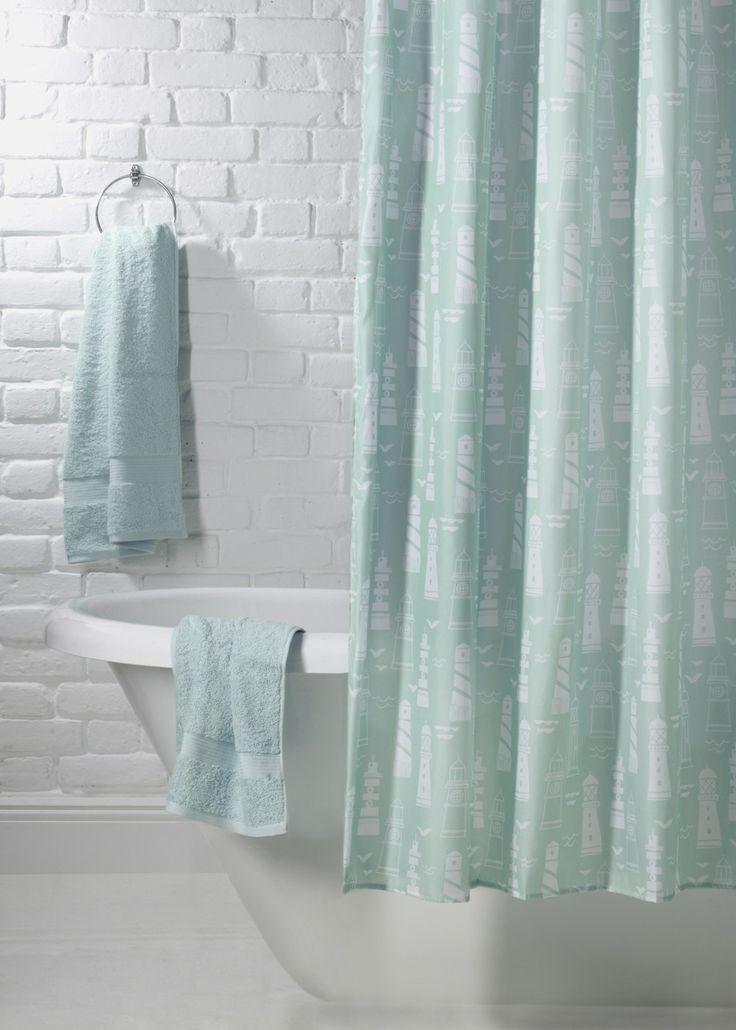 Lighthouse Design Shower Curtain (180cm x 180cm)