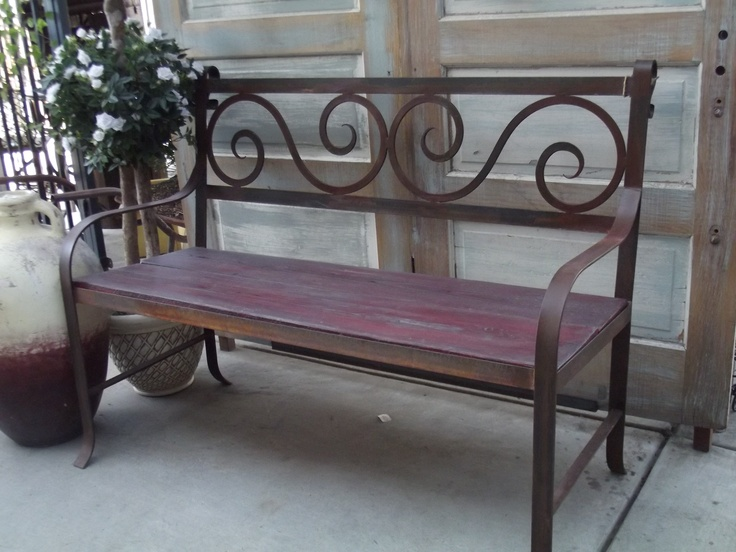 Bench by Cesar (hand forged iron and salvaged wood) See store for prices.