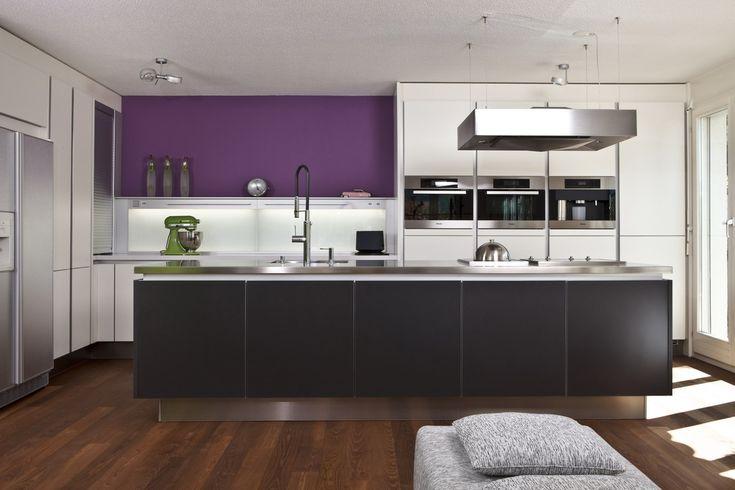 Küche Poggenpohl mit Kochinsel in titangrau Future Home - nolte kchen mit kochinsel und theke