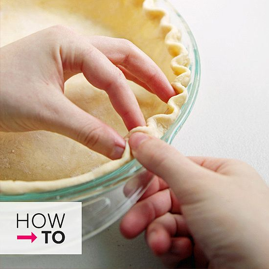 how to easily crimp a pie crust, in pictures