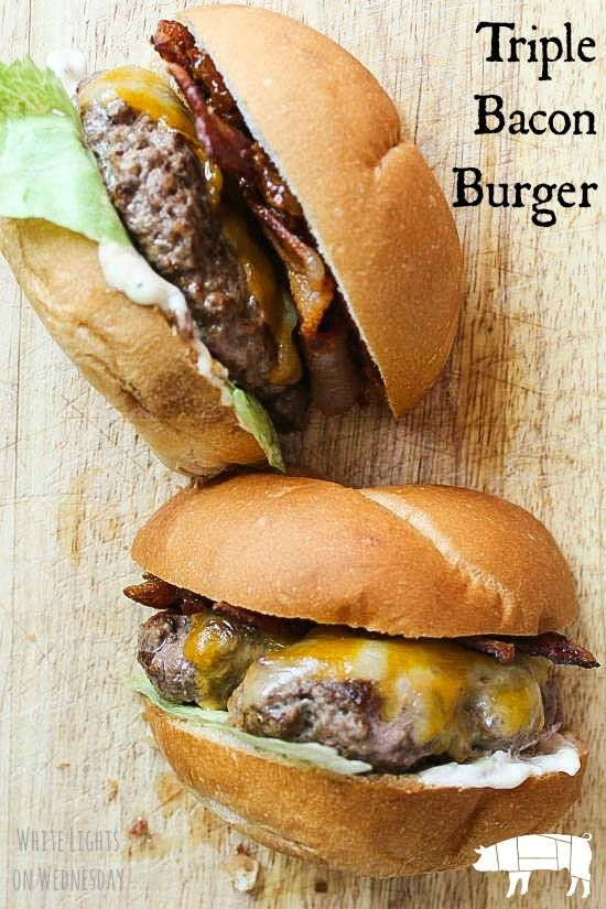 Triple Bacon Burger - this little number got all dressed up with some Bacon…