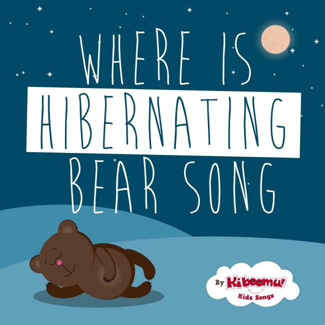"""Where is Hibernating Bear?"" is a wonderful winter song to use to introduce the concept of hibernation and animals that hibernate during the winter. #kidsongs #preschool #kindergarten"