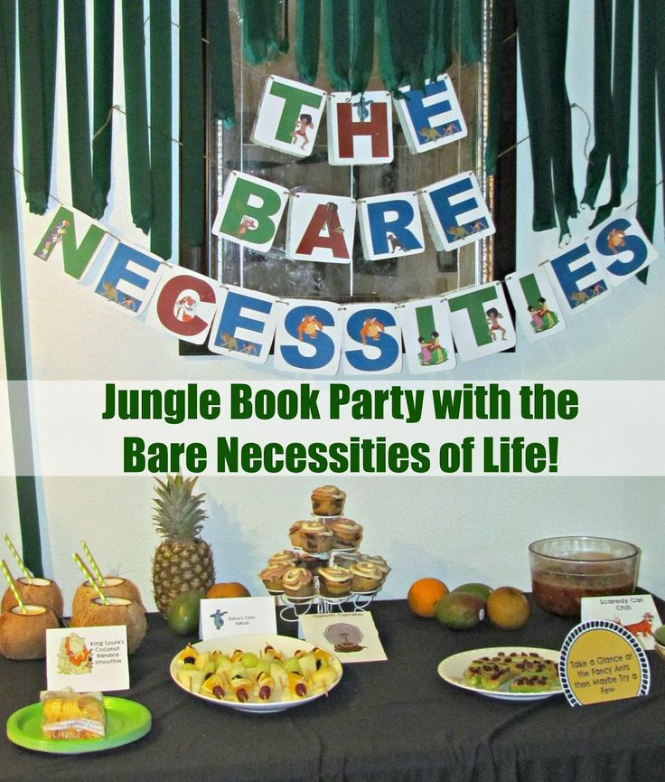 Party with Baloo and The Bare Necessities of Life, with a Coconut Banana Smoothie, Baloo's Fruit Kabobs and more! Kids will love drinking out of a Coconut Shell while playing with Balloon animals from the jungle. #JungleFresh #shop #cbias
