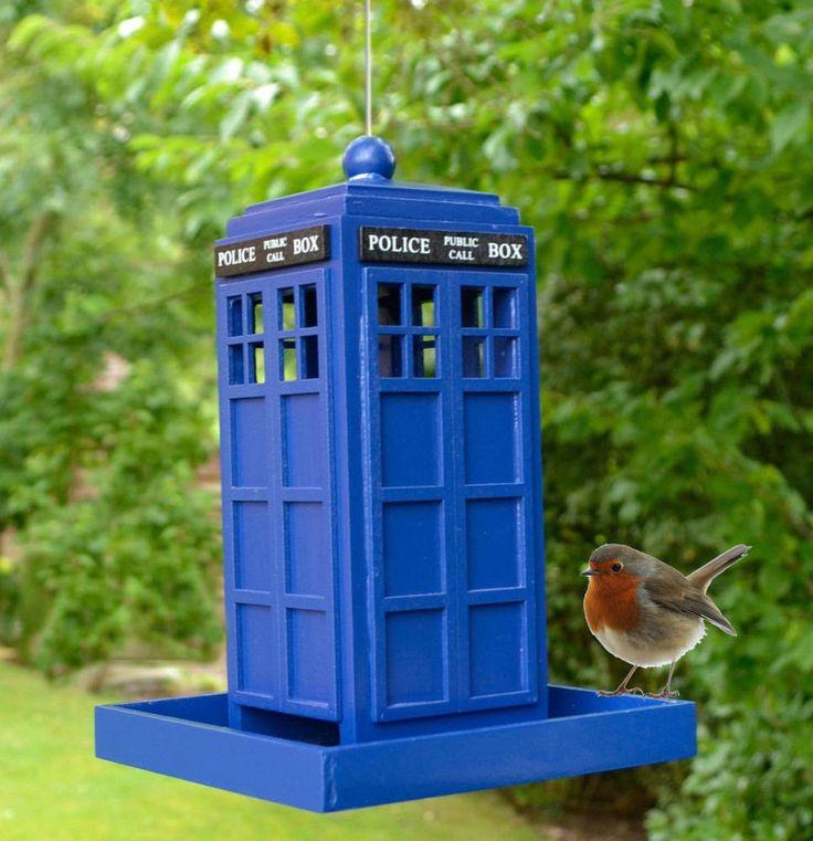 TARDIS Original Police Call Box Garden Birdfeeder