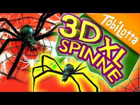 3D XL Spinne | Halloweendeko | Halloween DIY | Kinderkanal |halloween spinne basteln - Tobilotta 59 - YouTube