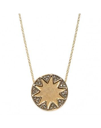 House of Harlow Gold Earth Metal Sunburst Necklace