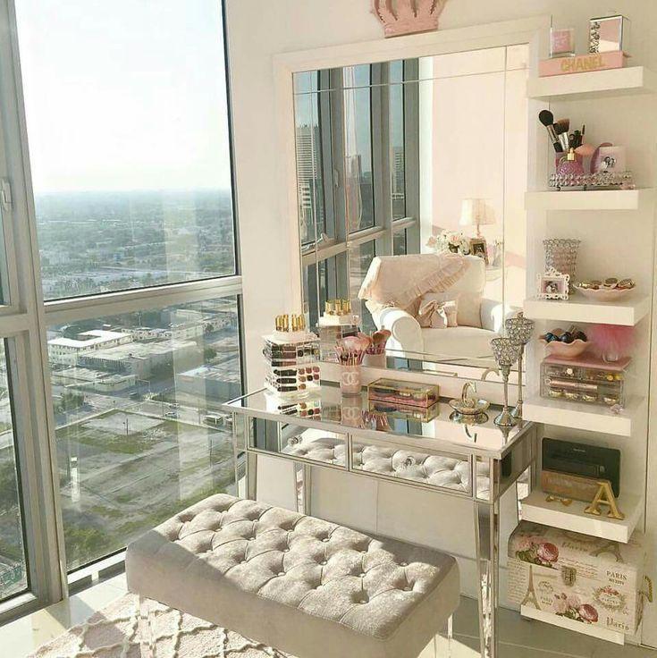Glam makeup room ideas