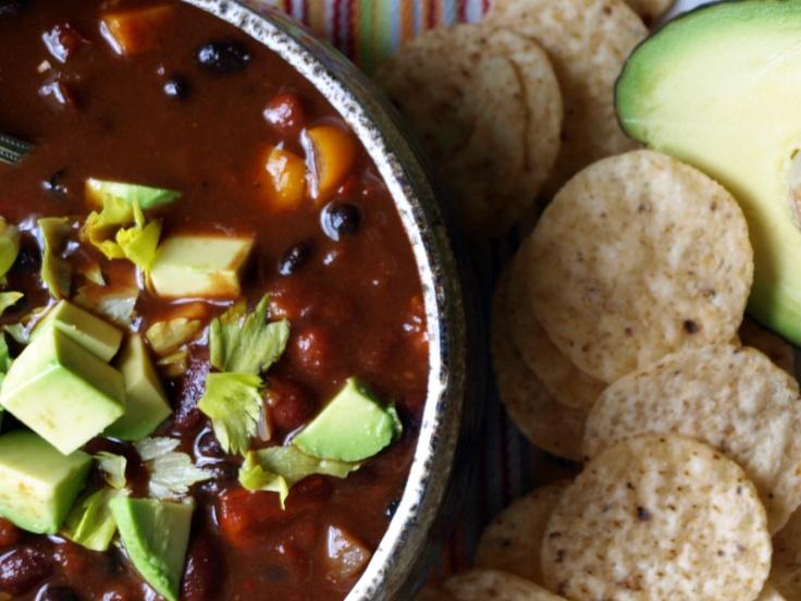 black bean chili red chili black beans organic soup chili soup ...