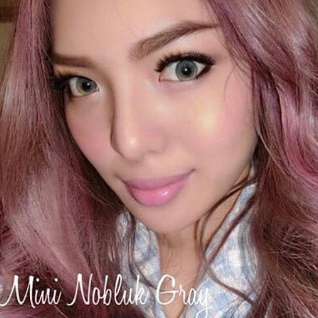 #ShareIG Mini Nobluk Gray มาอีกแล้วรุ่นmini กับสีเทาชวนมอง ลทบ.30 ems.50 สนใจแอดไลน์เลยจ้า Line:pployyolpy Ig:Dreamcolor2 #bigeye #contractlens #len#softlens  #eye #dreamcolor1  #dreamcolor_1 #mmbigeye #fashion  #korea  #minilens