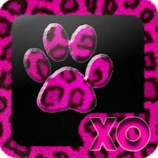 Animal related launch app, symble matches background design, but stands out regardless due to the black middle. The company name is kept dinstinct by embossing it into the image and removing the leopard the print design. however the purple colour on it keeps hard to notice with the paw in the middle.