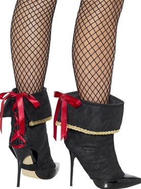 Adult Ladies Pirate Boot Covers by Fancy Dress Ball