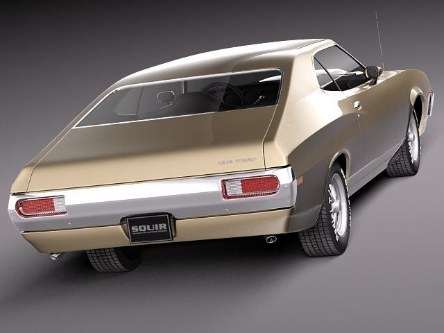 3d Ranchero 1972 Hardtop Muscle Ford Muscle 3d Model