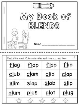 Blends and Digraphs Fluency Books:This product contains two student booklets:* My Book of Blends* My Book of DigraphsThe books will ask the students to read words that contain consonant blends or digraphs in order to improve their word recognition. and reading fluency.