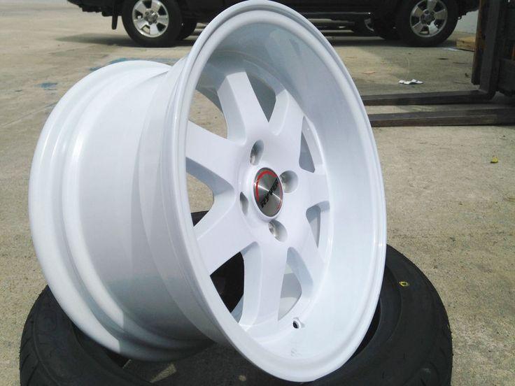 Ryver Si Wheels Rims 15x8 White Honda Civic Crx Del Sol