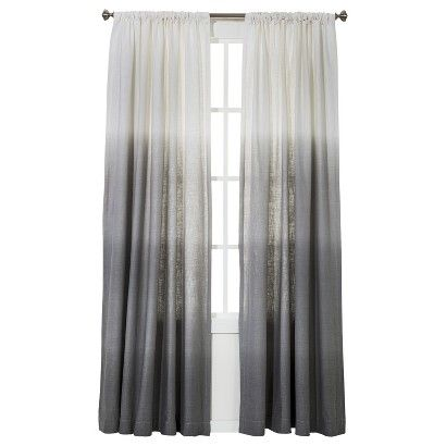 Target Threshold Ombre Curtains, $24.99. Available in Blue or Grey for bedroom. (MASTER BEDROOM)