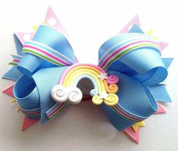 Rainbow Hair BowRainbow Dog Collar Dog Collar by CreateAlley, $12.00