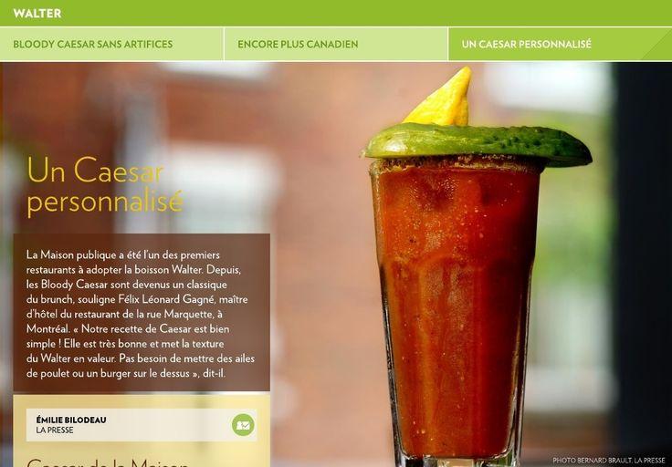 La Maison publique a été l'un des premiers restaurants à adopter la boisson Walter. Depuis, les Bloody Caesar sont devenus un classique du brunch, souligne Félix Léonard Gagné, maître d'hôtel du restaurant de la rue Marquette, à Montréal. «Notre recette de Caesar est bien simple! Elle est très