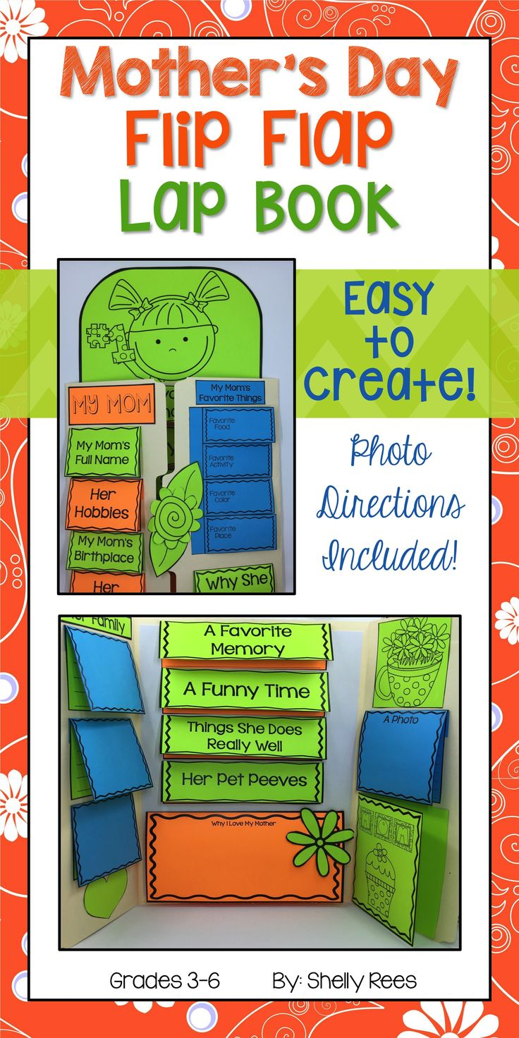 Mother's Day Lap Book. This Mother's Day Lapbook makes the perfect keepsake for students to give to their mothers! LOVE!