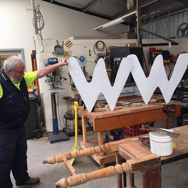 Its the first day of W-W-Winter!  Hard work paying off down at the #mensshed #portfairy with these telling two that form part of the Bathed in Light projections. Look out for this bright pair in festival colours near the Gipps St bridge during the festival!  #portfairy #destinationportfairy #destinationvictoria #wandervictoria #visitportfairy #visitvictoria #pfww16 #greatoceanroad #3284 #festival #program #australia #countryfestival #lovevictoria #announcement #tourismvictoria…