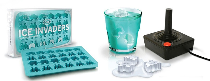 Space invaders ice cube moldCubes Moldings, Ice Invaders, Spaces Invaders, 2 Dimensions Aliens, Nifty Stuff, Invaders Ice, Ice Cube Trays, Ideal Kitchens, Ice Cubes Trays