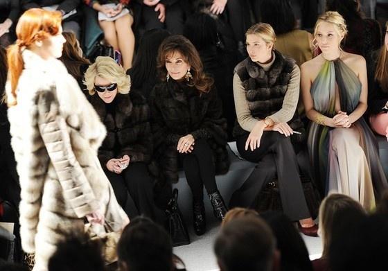 joan rivers, susan lucci, ivanka trum and kriston cavallari, dennis basso fall '12 mercedes-benz fashion show