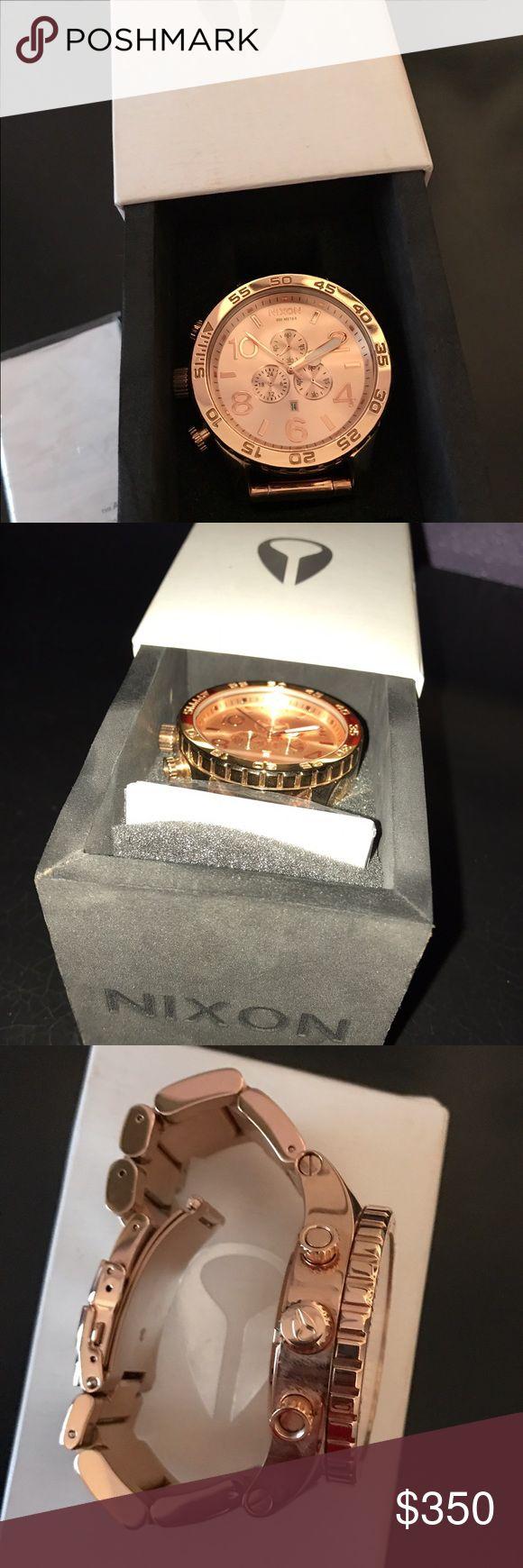 Nixon 51-30 Rose gold watch Big face watch, rose gold. Nixon Accessories Watches