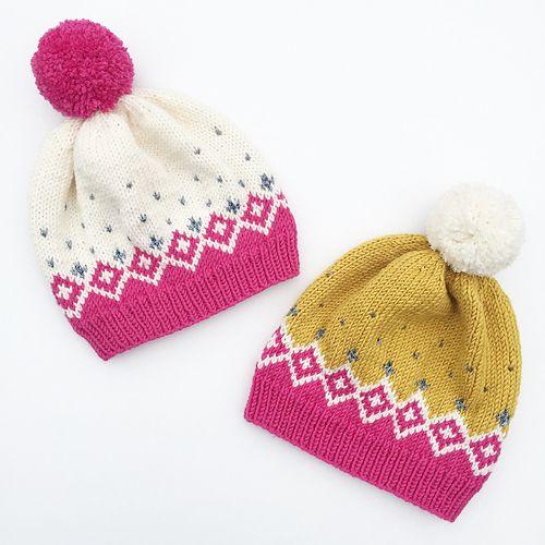 Ravelry: Kongvinterbarnelue / Father Frost Hat For Kids pattern by Strikkelisa