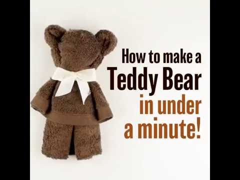 How to make a teddy bear in under a minute! - YouTube