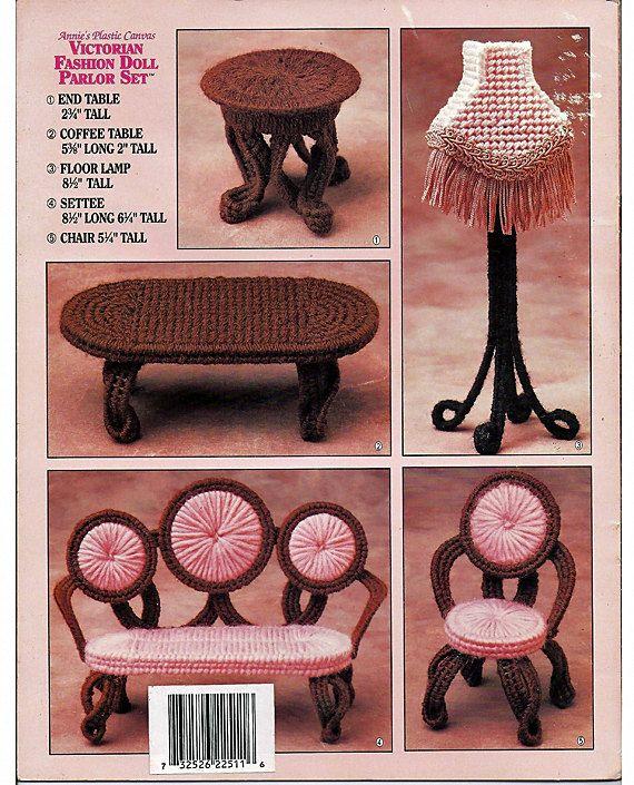 Salón de muñeca moda victoriana Set lona por grammysyarngarden