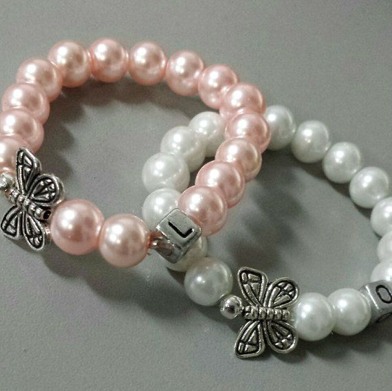 Flower Girl BraceletFirst Communion Gift by Madewithbeads90