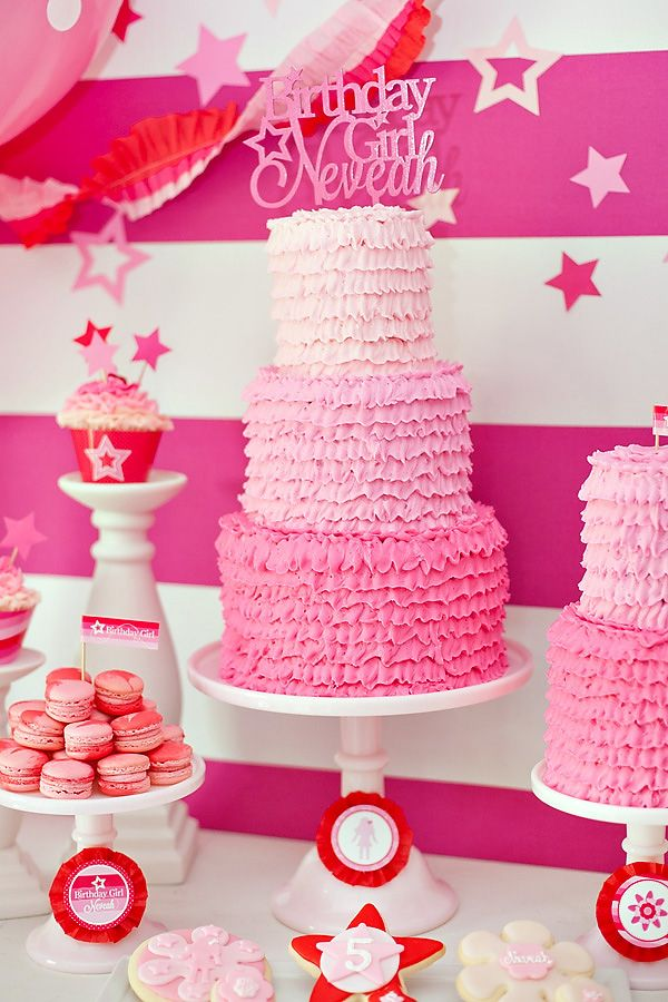 American Girl Doll Inspired Party {Pink & Ombre!} - Gorgeous Cake by @Olga Linkova what it cakes!
