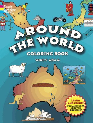 Entertaining home or classroom aid introduces youngsters to 30 countries of the world. Maps with names of major cities and other important facts include Mexico, Argentina, Saudi Arabia, India, Spain, France, Nigeria, and 23 other nations.