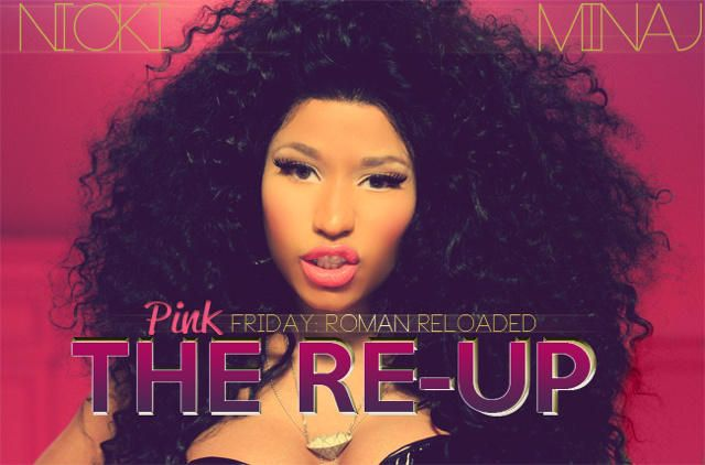 "Check out the cover of Nicki Minaj's album cover for the release of ""Pink Friday: Roman Reloaded The Re-Up"" #ETCanada https://twitter.com/i/#!/NICKIMINAJ/media/slideshow?url=pic.twitter.com%2FL3xIzzv6"